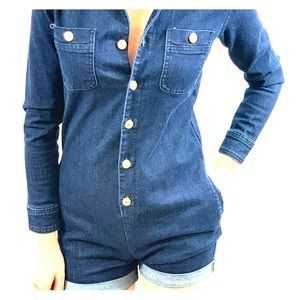 7 For All Mankind: Blue Jean Romper/Jumpsuit
